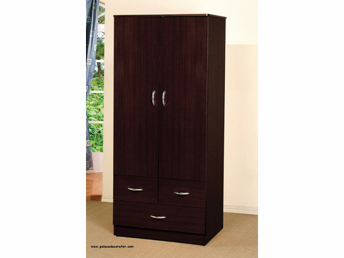 Yorktown Espresso Finish Wardrobe