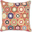 Abstract Circles Hooked Throw Pillow