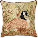Audubon Canadian Goose Bird Pillow