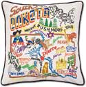 Catstudio Embroidered Catstudio Handmade South Dakota Pillow