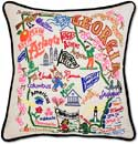 Catstudio Embroidered Geography Georgia Handmade Pillow