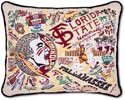Catstudio Florida State Seminoles Embroidered Collegiate Pillow