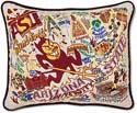 Catstudio Handmade Arizona State University Embroidered Pillow