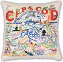Catstudio Handmade Cape Cod Embroidered Pillow
