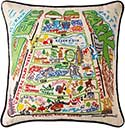 Catstudio Handmade Central Park New York Geography Pillow