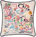 Catstudio Handmade Embroidered California Geography State Pillow