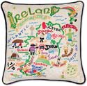 Catstudio Handmade Embroidered Geography Ireland Pillow