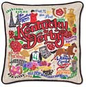 Catstudio Handmade Kentucky Derby Embroidered Pillow