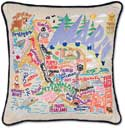 Catstudio Handmade Marin County Embroidered Pillow