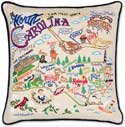 Catstudio Handmade North Carolina Geography Pillow