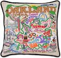 Catstudio Handmade Oakland California Embroidered Pillow