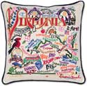 Catstudio Handmade Virginia Geography Embroidered Pillow