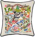 Catstudio Handmade Washington State Embroidered Pillow