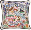 Catstudio Hill Country Texas Embroidered Decorative Pillow