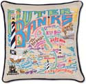 Catstudio Outer Banks Handmade Geography Pillow
