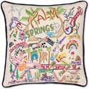 Catstudio Palm Springs Handmade Embroidered Pillow