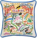 Catstudio Tampa Bay St Pete Florida Handmade Pillow