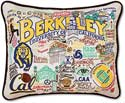 Catstudio University Of California Berkeley Embroidered Pillow