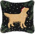 Christmas Golden Retriever Dog Pillow