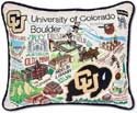 Embroidered Colorado University Boulder Buffaloes Pillow