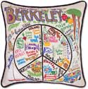 Embroidered Handmade Berkeley Geography Pillow