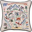 Embroidered Handmade Washington D.C. Pillow