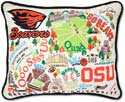 Embroidered Oregon State University Beavers Pillow