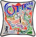 Embroidered Ottawa Canada Handmade Pillow