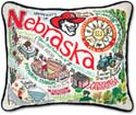 Embroidered University of Nebraska Football Pillow