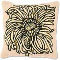Floral Hooked Handmade Flower Pillow