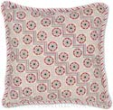 Floral Zig Zag Needlepoint Pillow