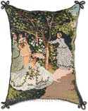 French Monet Garden Needlepoint Pillow
