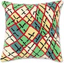 Geometric Abstract Squares Throw Pillow