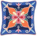 Geometric Persian Floral Handmade Pillow