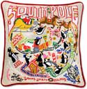 Giant Embroidered Christmas South Pole Pillow