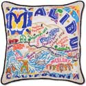 Giant Embroidered Handmade Malibu California Pillow