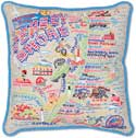 Giant Embroidered New Jersey Shore Pillow
