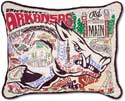 Giant Handmade Arksas Razorbacks Collegiate Pillow