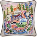 Giant Handmade Big Bend Texas Embroidered Pillow