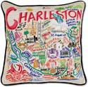 Giant Handmade Charleston South Carolina Pillow