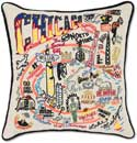 Giant Handmade Chicago Embroidered Geography Pillow