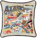 Giant Handmade Embroidered Alaska Geography Pillow