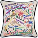 Giant Handmade Embroidered Geography Alabama Pillow
