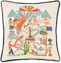 Giant Handmade Embroidered Geography Arizona Pillow