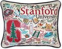 Giant Handmade Embroidered Stanford University Pillow