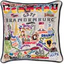 Giant Handmade Germany Embroidered Geography Pillow