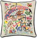 Giant Handmade Maryland Embroidered Geography Pillow