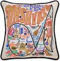 Giant Handmade Nashville Tennessee Embroidered Pillow