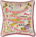 Giant Handmade Night Before Christmas Embroidered Pillow