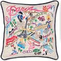 Giant Handmade Paris France Embroidered Pillow